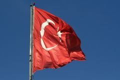 Turkey flag Stock Photos