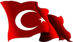 Turkey flag 2 Royalty Free Stock Images