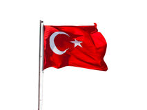 Turkey flag. Isolated on white background stock photography