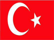 Turkey flag Royalty Free Stock Photography