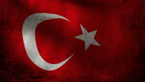 Turkey flag stock footage