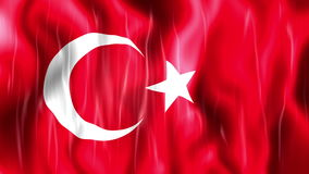 Turkey Flag Animation. Ultra HD, 3840x2160 Pixels, Realistic Flag Animation stock video