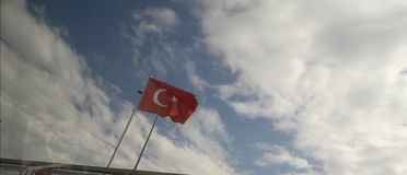Turkey. Flag on ankara royalty free stock images