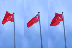 Turkey Flag. A Turkey flag with blue background royalty free stock photo