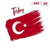 Turkey flag brush strokes Stock Photo