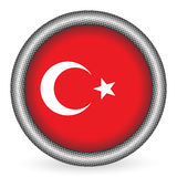 Turkey flag button Stock Photography