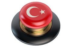 Turkey flag button Stock Photos