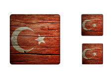 Turkey flag Buttons Royalty Free Stock Photography