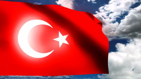Turkey flag cloud timelapse back. HD 1080i stock video footage