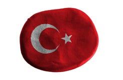 Turkey flag,flag clay on white background.  stock photography