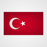 Turkey flag on a gray background. Vector illustration Royalty Free Stock Images