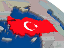 Turkey with flag Royalty Free Stock Image