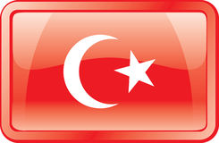 Turkey Flag Icon Royalty Free Stock Images