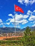 Turkey Flag. In Karabük stock photos