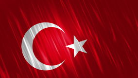 Turkey Flag Loopable Background. Ultra HD, 3840x2160 Pixels, Seamlessly Loopable Flag Animation stock video footage