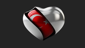 Turkey flag love heart concept Stock Photo