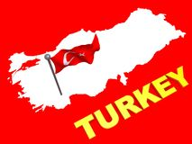 Turkey flag and map Stock Image