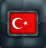 Turkey flag on metalic background Royalty Free Stock Photo