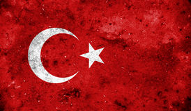 Turkey flag on old background retro effect Stock Image