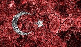 Turkey flag on old background retro effect Royalty Free Stock Images