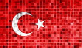 Turkey flag on old background retro effect Royalty Free Stock Image