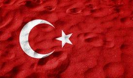 Turkey flag on old background retro effect Royalty Free Stock Photo