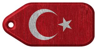 Turkey flag stock illustration