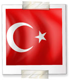 Turkey flag on paper Stock Images