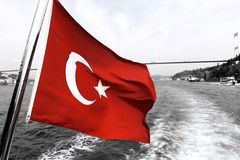 Turkey flag. In turkey, only red stock photos