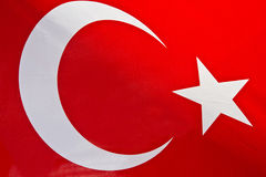 Turkey flag. A the red turkey flag stock photos
