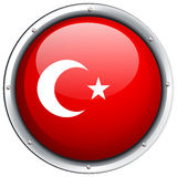 Turkey flag on round frame Royalty Free Stock Image
