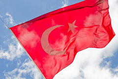Turkey flag Royalty Free Stock Photo
