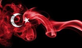 Turkey flag smoke. Isolated on a black background royalty free stock photos