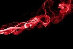 Turkey flag smoke. Isolated on a black background stock photography