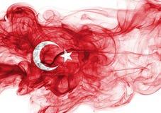 Turkey flag smoke. Isolated on a white background royalty free stock images