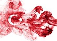 Turkey flag smoke. Isolated on a white background stock photography