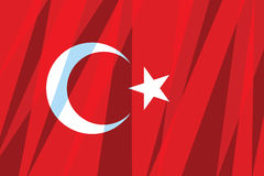 Turkey flag Stock Photos