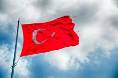 Turkey flag Stock Photography