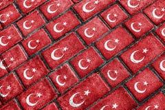 Turkey Flag Urban Grunge Pattern Stock Photography