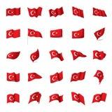 Turkey flag, vector illustration Royalty Free Stock Images