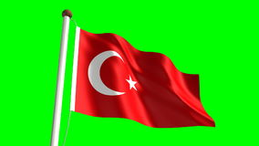 Turkey flag stock video