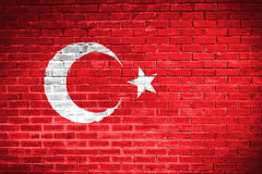 Turkey flag,wall texture background Royalty Free Stock Image