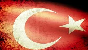 Turkey Flag Waving, grunge look. Turkey Flag Waving grunge look, video footage stock video