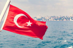 Turkey flag waving Royalty Free Stock Photography
