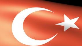 Turkey Flag Waving. Video footage stock video footage