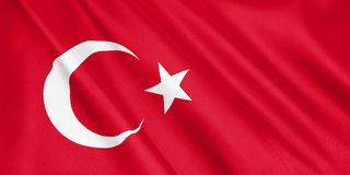 Turkey flag waving with the wind. vector illustration