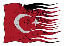 Turkey Flag Wavy And Grunged Stock Image