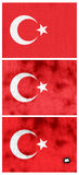 Turkey flags Royalty Free Stock Image