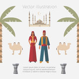 Turkey Flat Icon Set. Travel and Tourism Vector. Stock Photography
