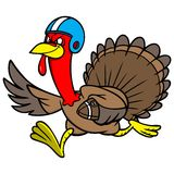 Turkey with a Football vector illustration